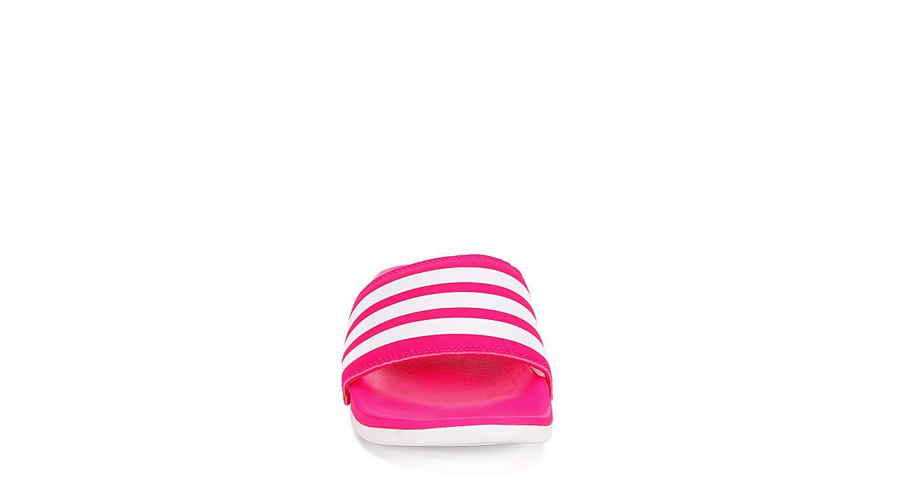 ADIDAS Womens Adilette Comfort Slide Sandal - PINK