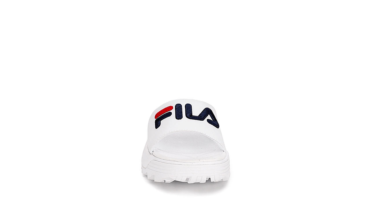 FILA Womens Disruptor Bold Slide - WHITE