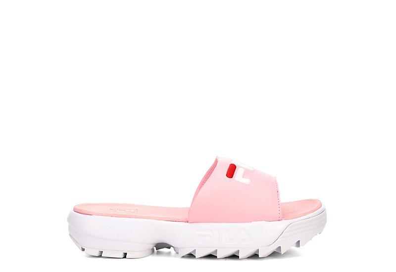 788046d4e21a Fila Womens Disruptor Bold Slide - Pink