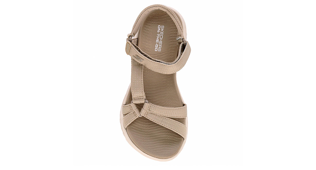 9b7421d8 Natural Skechers Womens On The Go 600 Brilliancy | Outdoors Sandals ...
