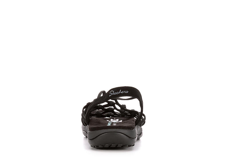 SKECHERS Womens Forget Me Knot Outdoor Sandal - BLACK