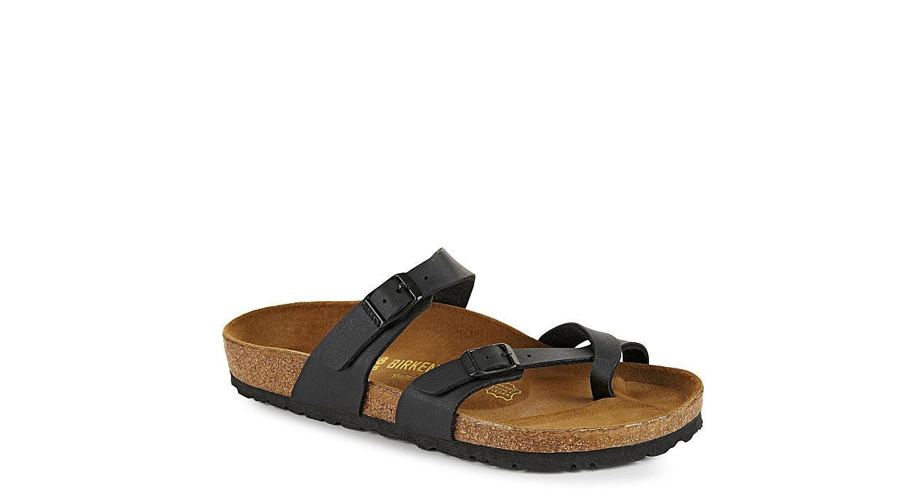 BIRKENSTOCK Womens Mayari Footbed Sandal - BLACK