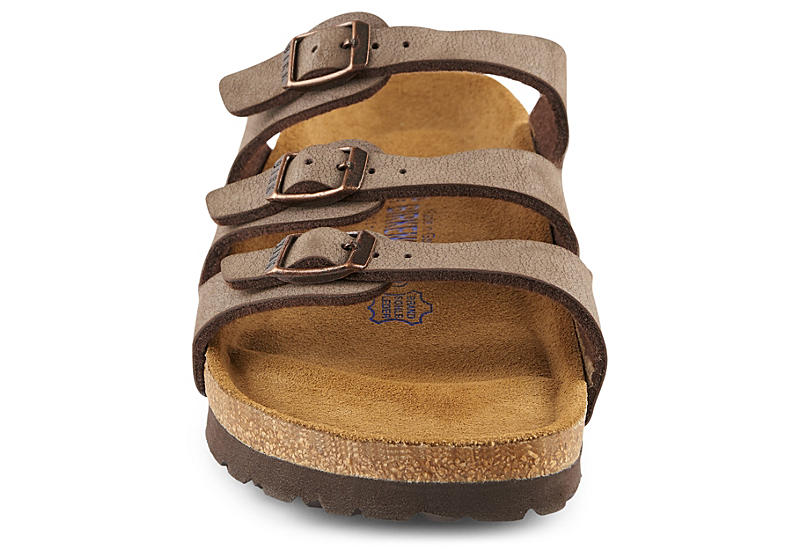 BIRKENSTOCK Womens Florida Footbed Sandal - BROWN