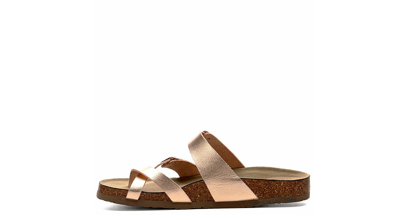MADDEN GIRL Womens Bryceee Footbed Sandal - ROSE GOLD