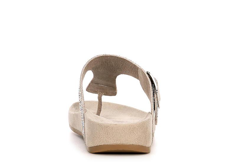 PESARO Womens Claire Flip Flop Sandal - GREY