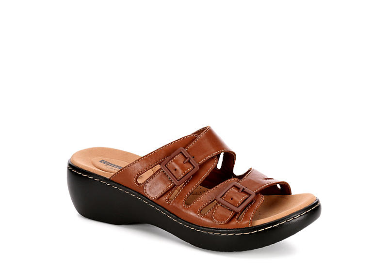 9f653341bd46 Leather Clarks Delana Liri Women s Sandals