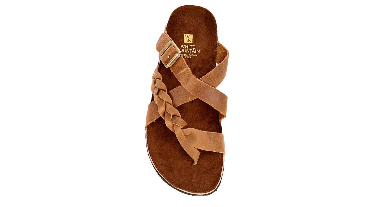 WHITE MOUNTAIN Womens Hansen Footbed Sandal - COGNAC