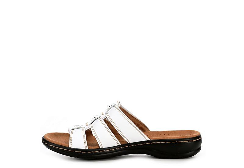 CLARKS Womens Leisa Spring Slide Sandal - WHITE