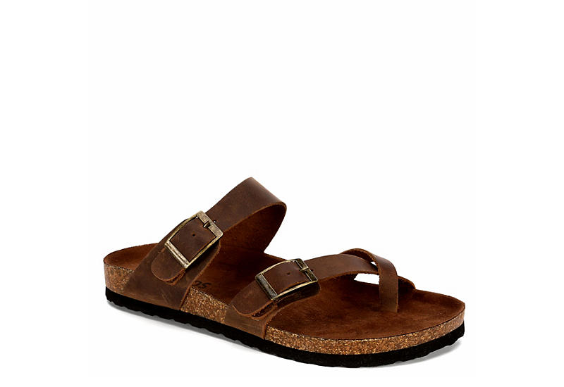 WHITE MOUNTAIN Womens Gracie Footbed Sandal - BROWN