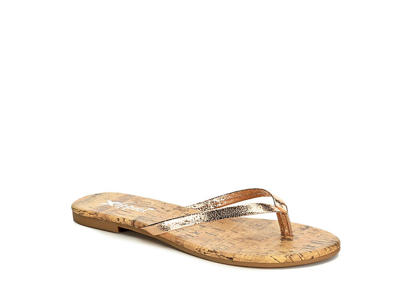 XAPPEAL Womens Michelle Flip Flop Sandal - ROSE GOLD