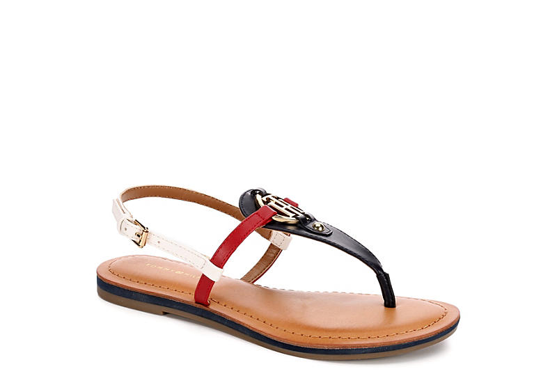 7389571e8 Navy Tommy Hilfiger Womens Genei | Flat Sandals | Rack Room Shoes