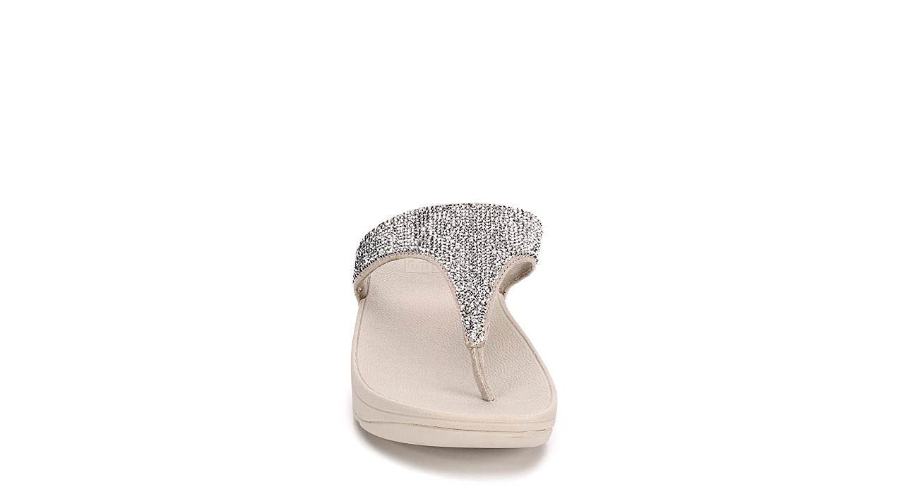 FITFLOP Womens Electra Flip Flop Sandal - SILVER