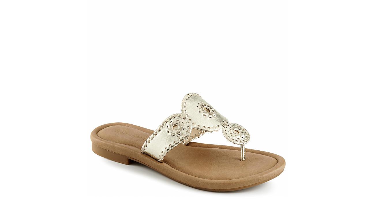 FRANCO FORTINI Womens Francine Flip Flop Sandal - GOLD