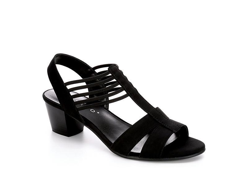 0af23ebc82f35e Black Pesaro Women's Leanne Sandal Heels | Rack Room Shoes
