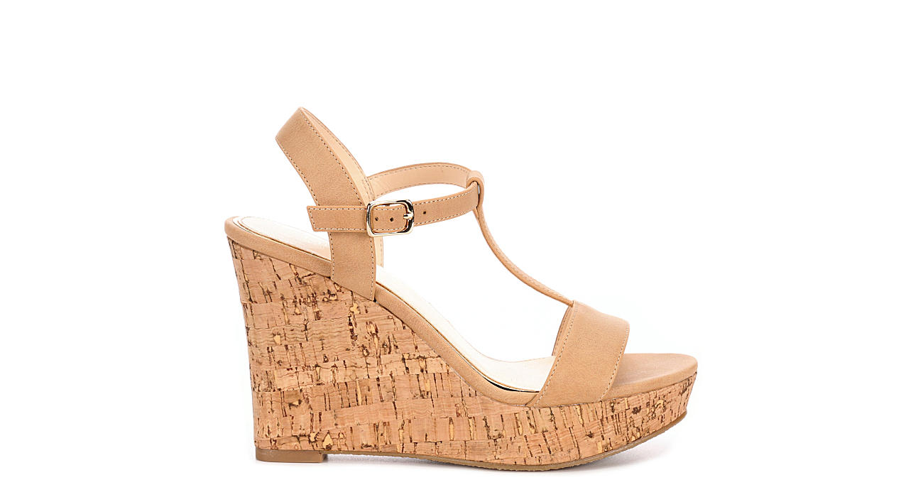 MICHAEL BY MICHAEL SHANNON Womens Libby Wedge Sandal - TAN