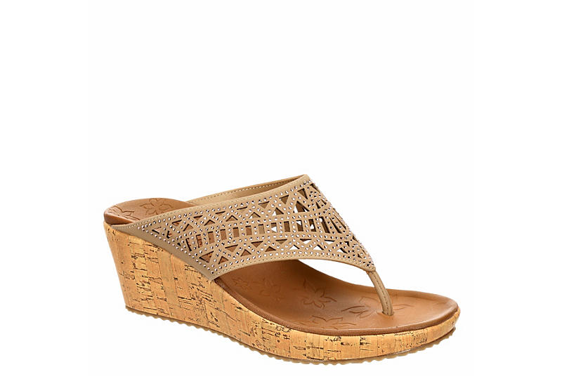 SKECHERS CALI Womens Summer Visit Wedge Sandal - TAUPE