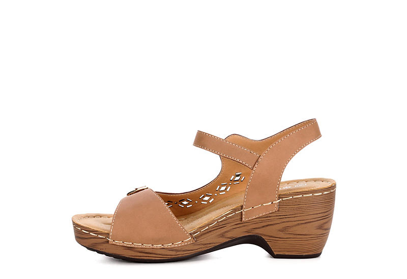 PATRIZIA Womens Shantay Wedge Sandal - TAN
