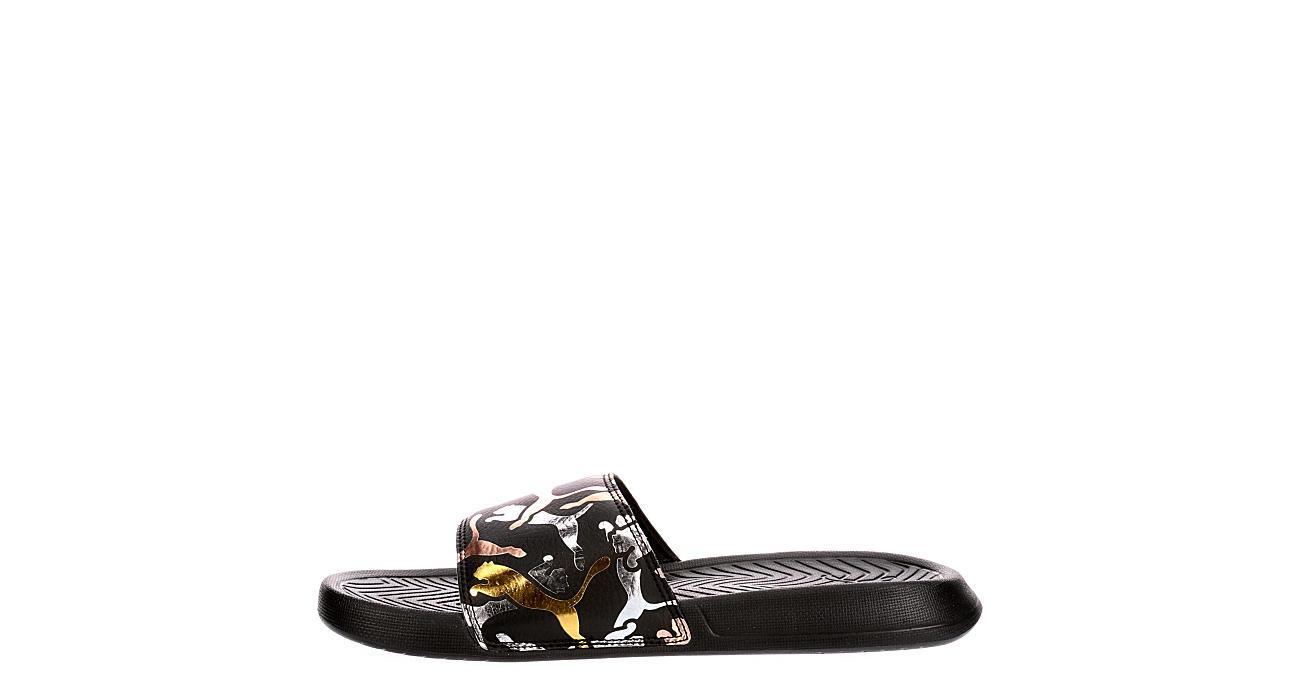 PUMA Womens Popcat Slide Sandal - BLACK