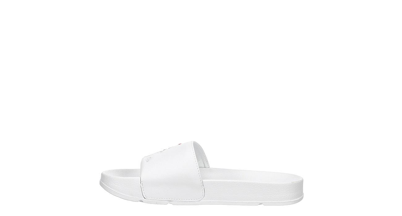 FILA Womens Drifter Embroidery Slide Sandal - WHITE