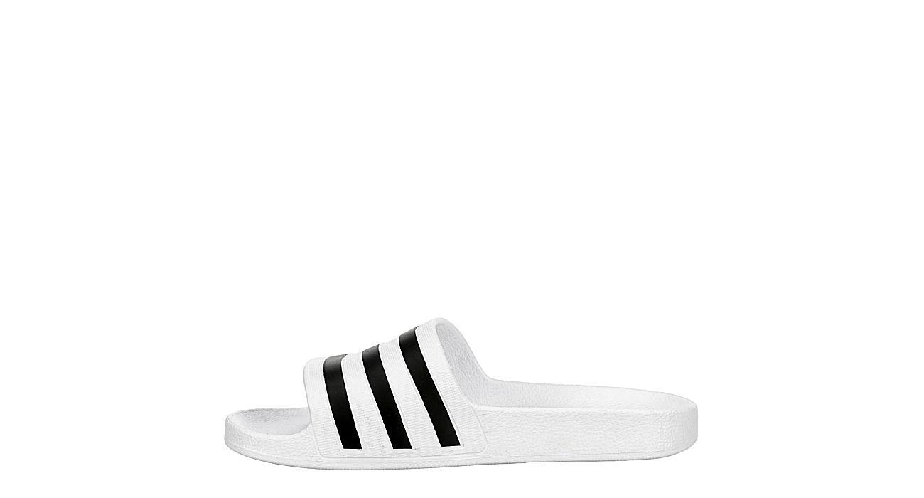 ADIDAS Womens Adilette Aqua Slide Sandal - WHITE