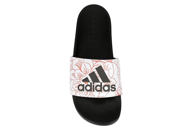 ADIDAS Womens Adilette Comfort Slide Sandal - WHITE