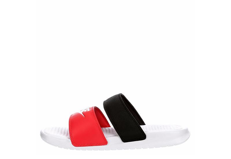NIKE Womens Benassi Duo Slide Sandal - RED