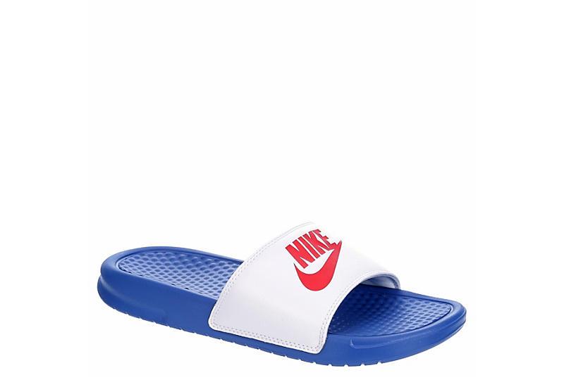 NIKE Womens Benassi Slide Sandal - BRIGHT BLUE