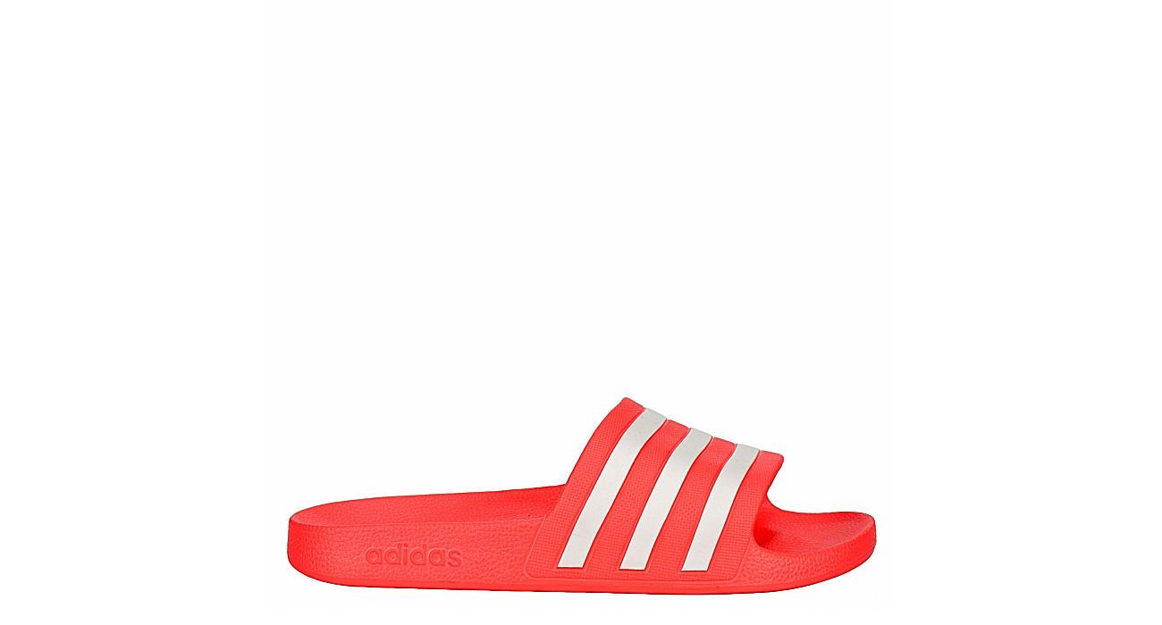 Adidas Womens Adilette Aqua Slide Sandal - Pink