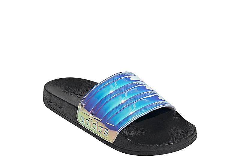 MED METALLIC ADIDAS Womens Adilette Shower Slide Sandal