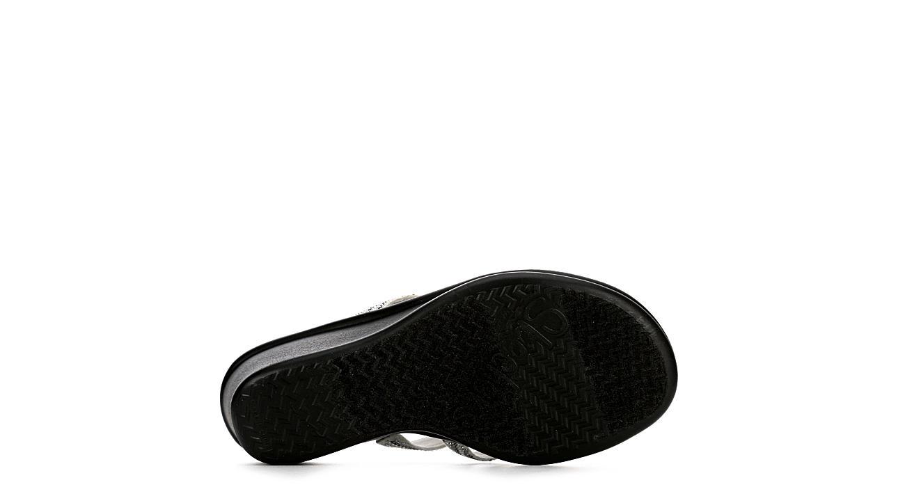 SKECHERS CALI Womens Mega Flash Wedge Sandal - WHITE