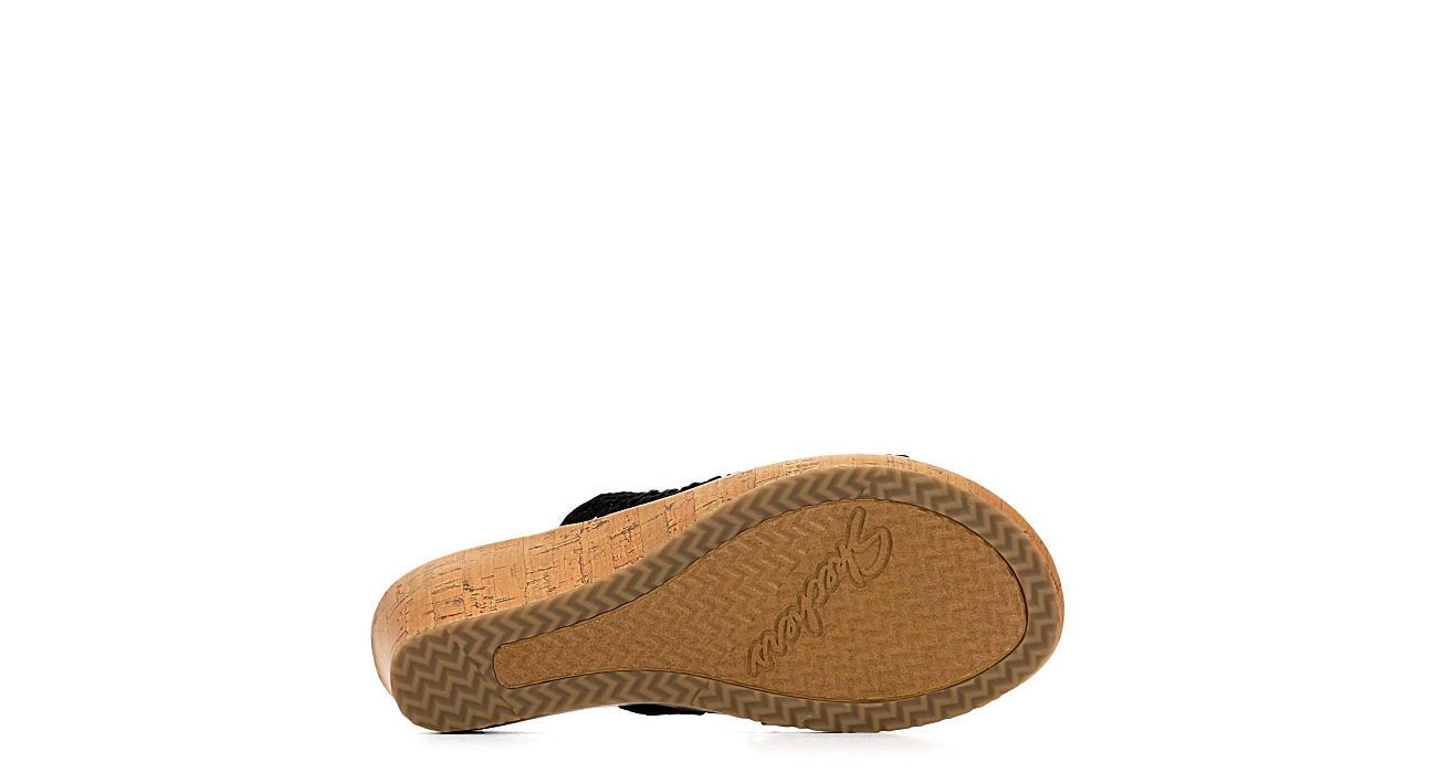SKECHERS CALI Womens Golden Sky Wedge Sandal - BLACK
