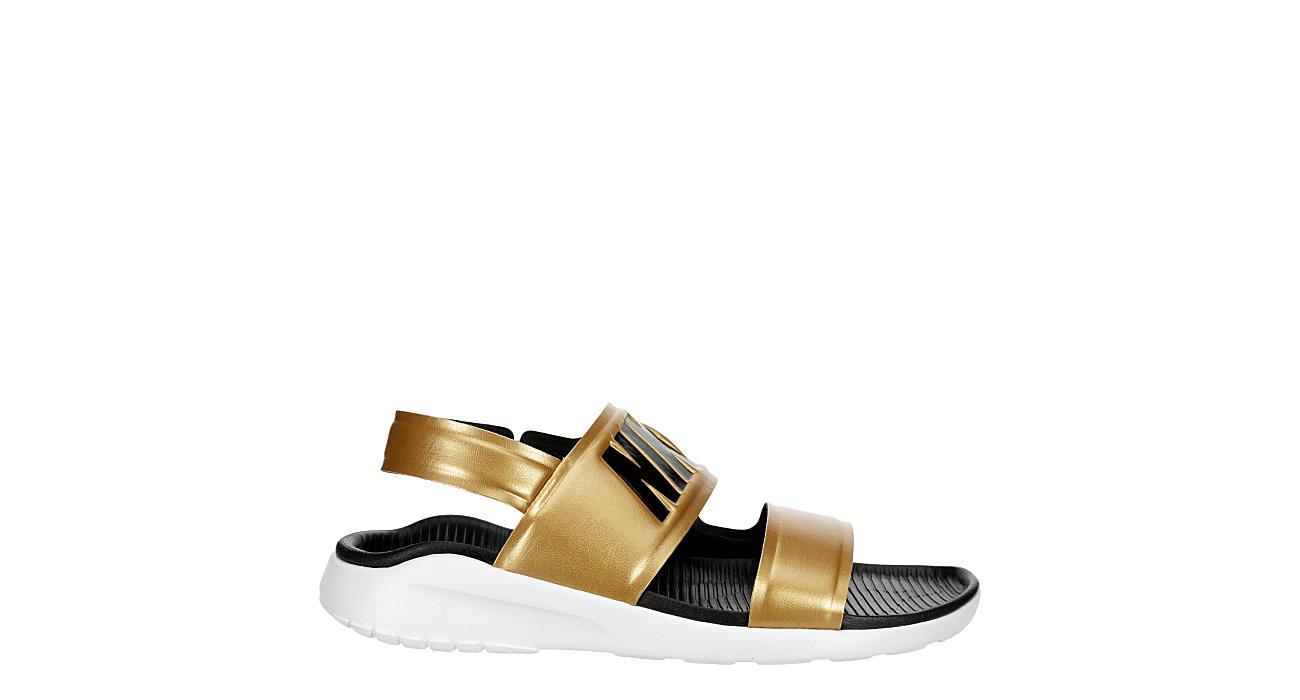 NIKE Womens Tanjun Sandal - GOLD