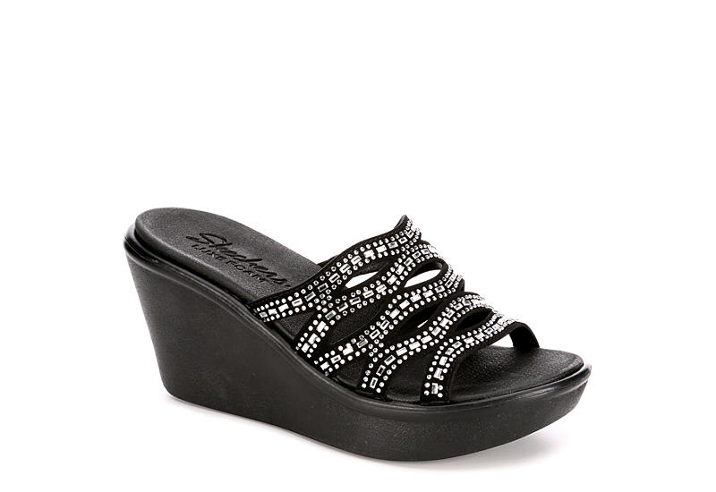 SKECHERS CALI Womens Rumble Up - Funny Business - BLACK