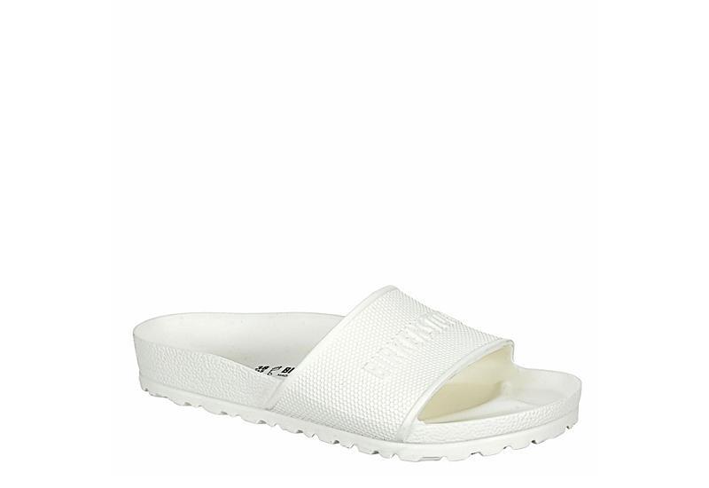 BIRKENSTOCK Womens Barbados Slide Sandal - WHITE