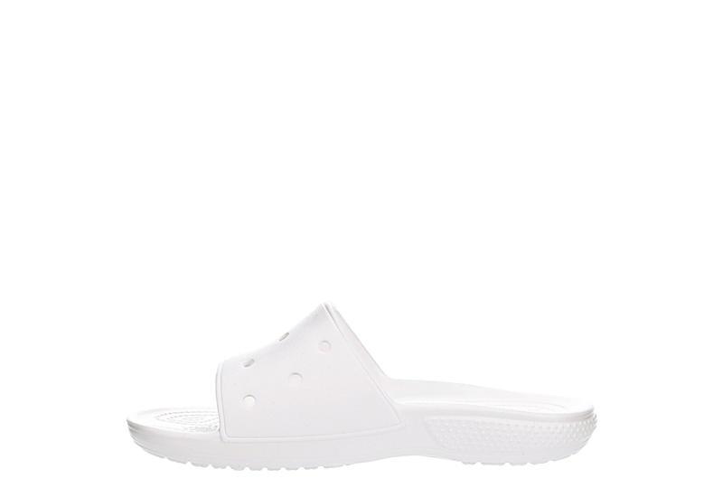 CROCS Womens Classic Slide Sandal - WHITE