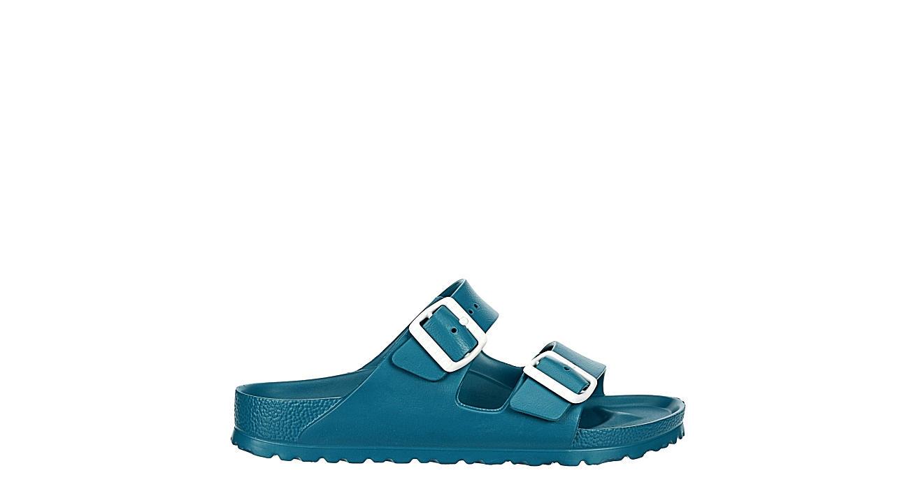 BIRKENSTOCK Womens Arizona Essentials Slide Sandal - TURQUOISE