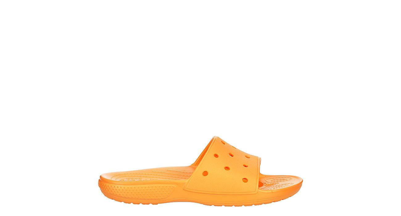 CROCS Womens Classic Slide Sandal - ORANGE