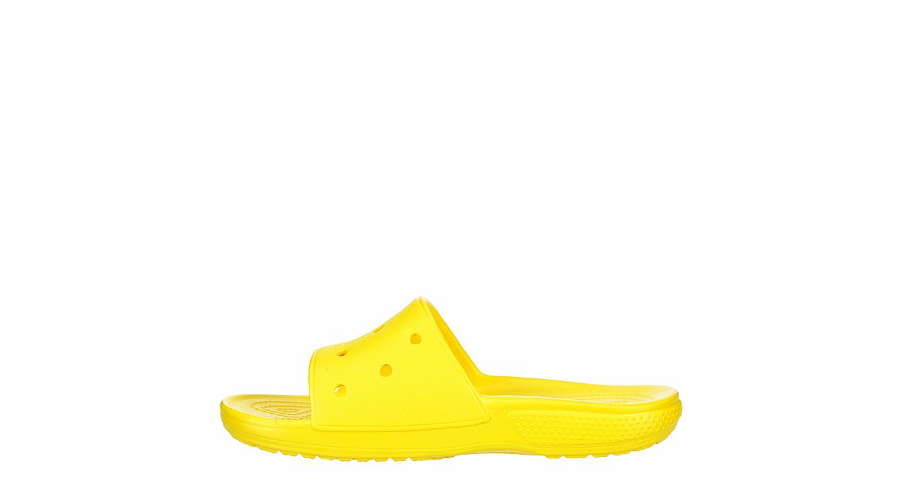 CROCS Womens Classic Slide Sandal - YELLOW