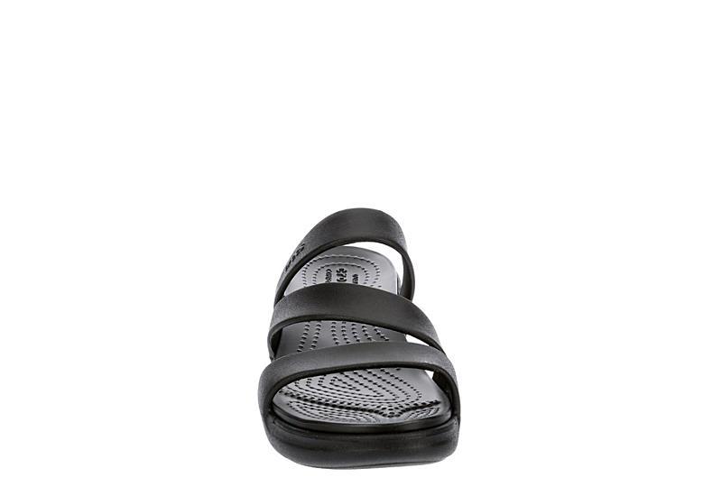 CROCS Womens Monterey Wedge Sandal - BLACK
