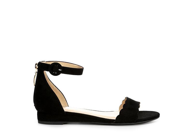 LAUREN BLAKWELL Womens Delilah Wedge Sandal - BLACK