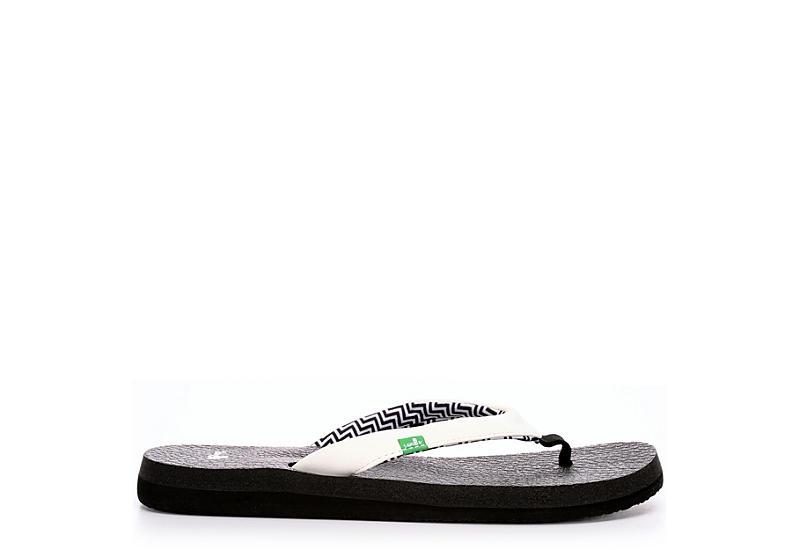 SANUK Womens Yoga Serenity 4 Flip Flop Sandal - WHITE