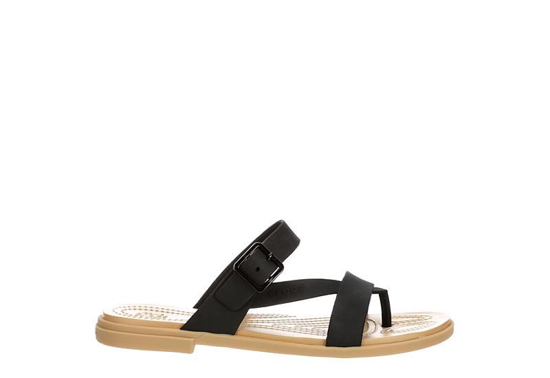 CROCS Womens Tulum Flip Flop Sandal - BLACK