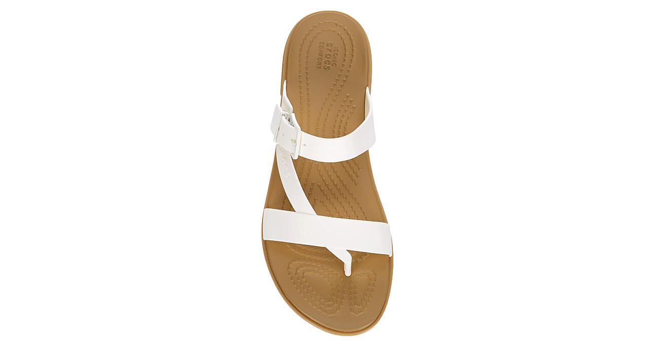CROCS Womens Tulum Flip Flop Sandal - WHITE