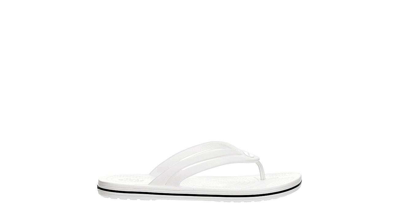 CROCS Womens Crocband Flip Flop Sandal - WHITE