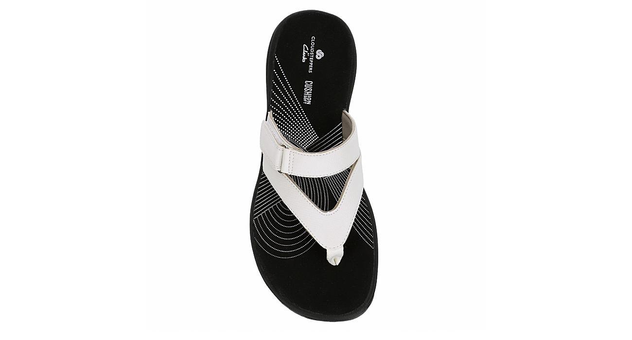 CLARKS Womens Brinkley Marina Flip Flop Sandal - WHITE