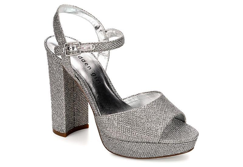 Silver Madden Girl Womens Shaarp Dress Rack Room Shoes
