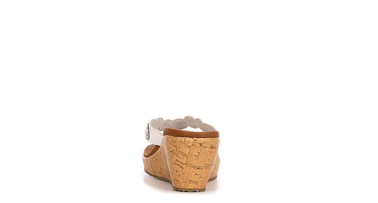 SKECHERS CALI Womens Bizzy Babe Wedge Sandal - WHITE