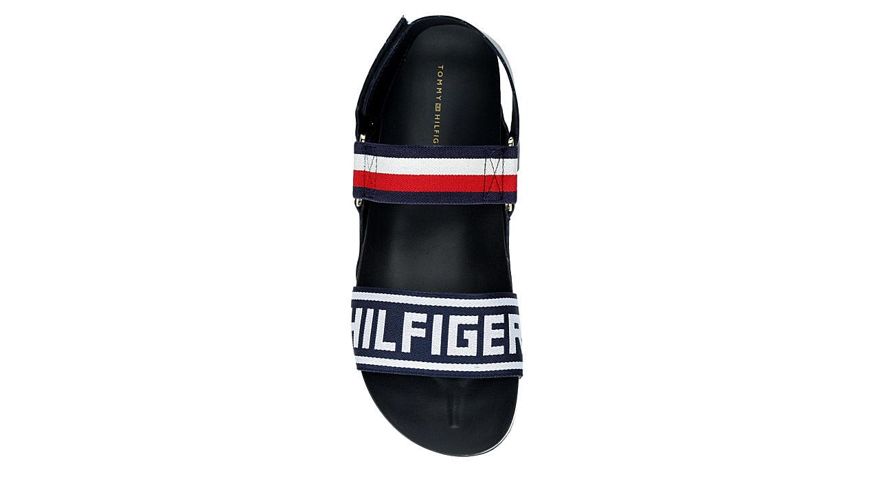 TOMMY HILFIGER Womens Bekett Sandal - NAVY