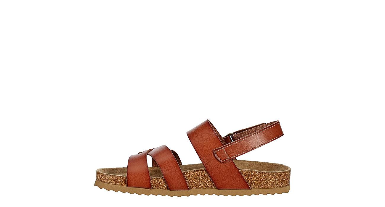 BJORNDAL Womens Christie Footbed Sandal - COGNAC