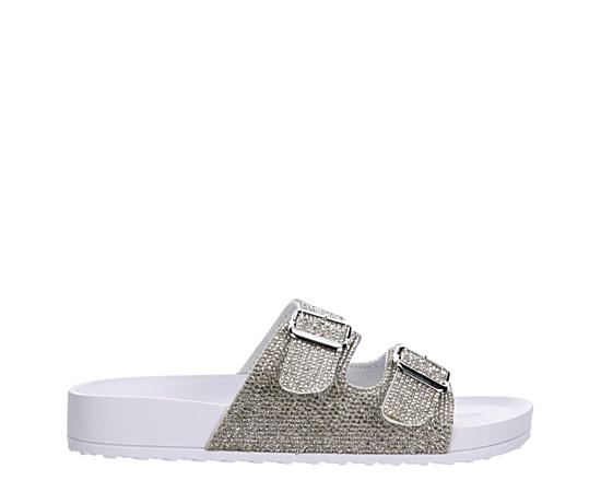 Womens Teddy Footbed Slide Sandal